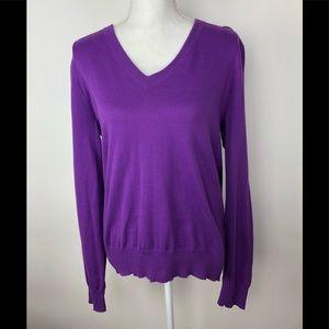 J. Crew purple v-neck sweater